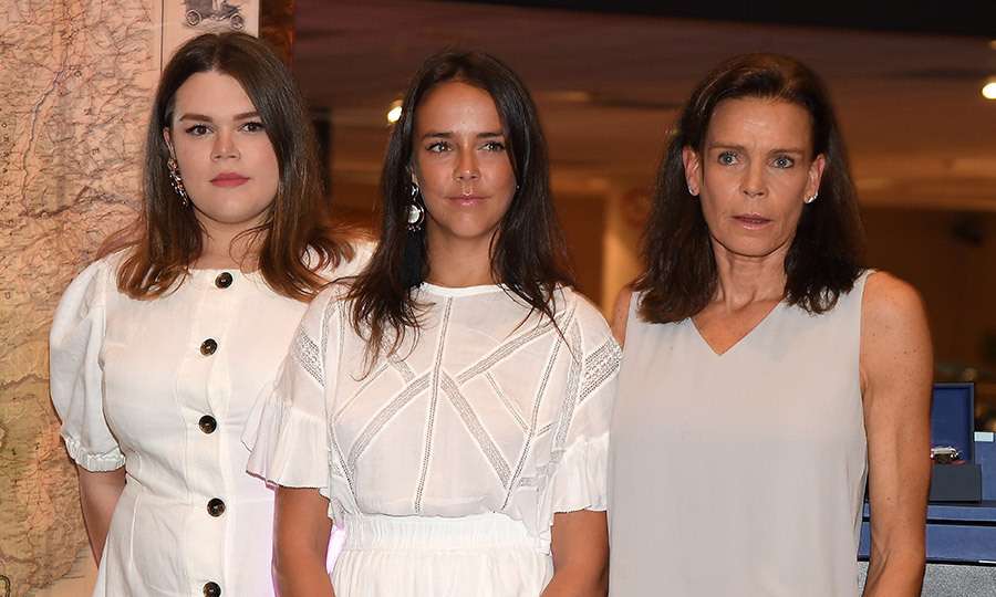It was a day out for this mother-daughter trio! Camille Gottlieb, 19, Pauline Ducruet, 24, and Princess Stephanie made an appearance at the TAG Heuer gathering, which was a more rare public appearance for the youngest of the bunch.