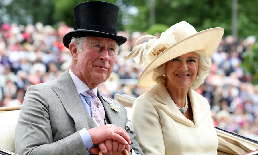 Prince Charles and Camilla showed off their summer glow while arriving by carriage at the exciting annual event. Prince Harry's father looked smart in a grey coat and top hat, while Camilla looked elegant as ever in an off-white outfit.