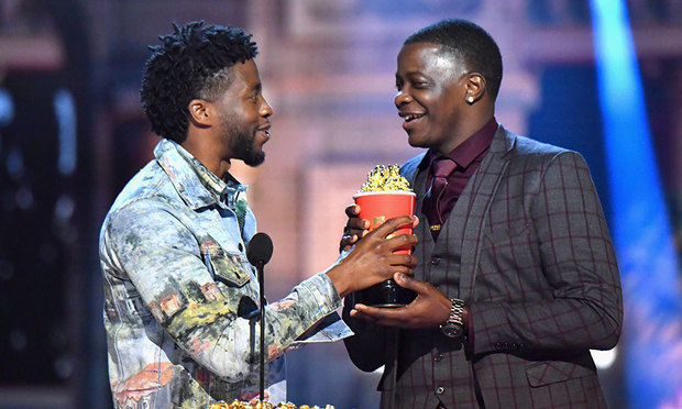 <em>Black Panther</em> star Chadwick Boseman gave his Best Hero award to James Shaw Jr, who famously intervened to help stop a shooter in a Waffle House in April 