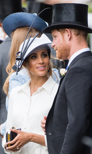 Meghan and Harry chatted while at the Royal Ascot. The lovebirds only have eyes for each other!