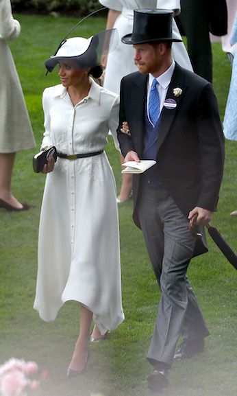 The newlyweds looked like the perfect couple! Meghan chose Givenchy for the outing, further cementing Clare Waight-Keller's position as the Duchess's go-to designer.