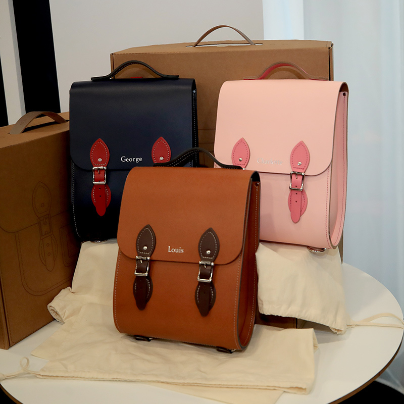 Prince William received the cutest gifts for his three children - Prince George, Princess Charlotte and Prince Louis - while on a visit to Liverpool. He received the sweet handmade satchels at the 2018 International Business Festival on June 19.