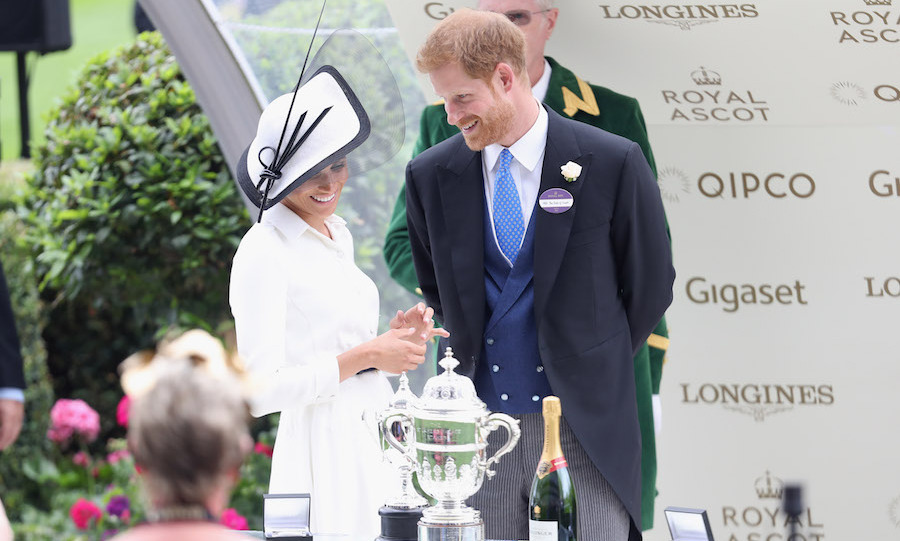 The Duke and Duchess checked out the shiny trophy they'd be handing out to the winner!