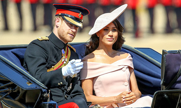 The Duke and Duchess of Sussex looked picture perfect as they attended their first Trooping the Colour as a married couple in June 2018. Meghan donned a stunning blush pink hat to match her Carolina Herrera gown.