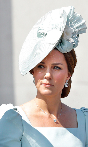 The Duchess of Cambridge pulled out all the stops for Trooping the Colour this year! She stunned in a seafoam green hat that perfectly matched her Alexander McQueen dress.