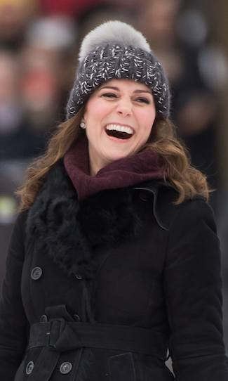 Kate looked adorable in a sweet bobble hat while attending a bandy hockey match with Prince William in Norway on January 30.