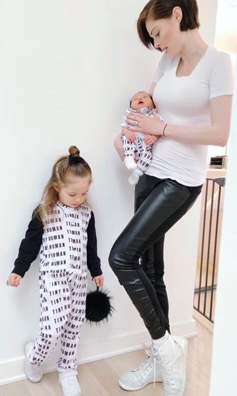 """My sweet babies! Right now I have a beautiful two-month-old baby boy who still has that new-baby smell. It's the most delicious thing in the world,"" supermodel and mother of two Coco Rocha shared.