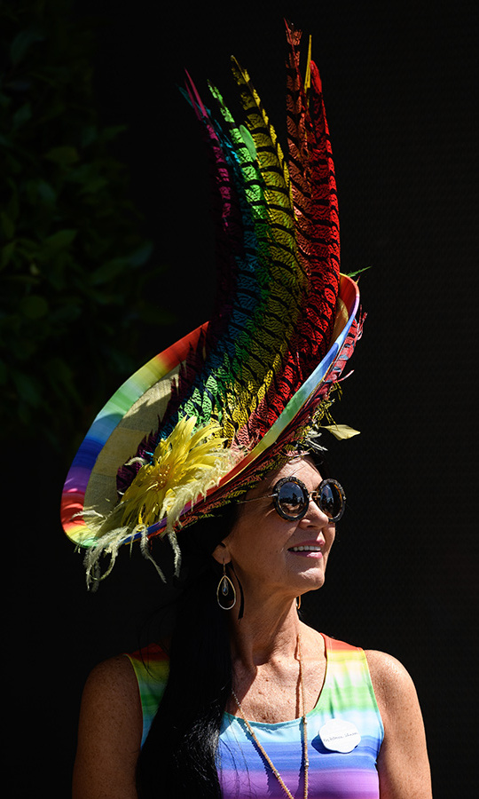Somewhere over the rainbow (and the feathers!) Royal Ascot was in full swing.
