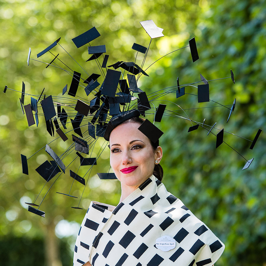 This geometric fascinator looked like a science experiment!