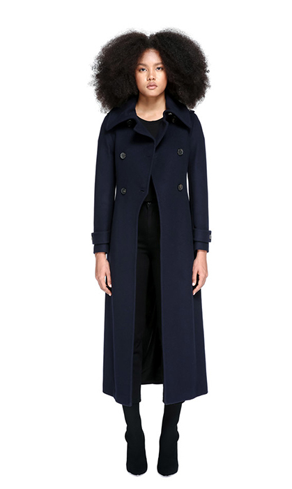 "<strong>Elodie Double Buttoned, Tailored Flat Wool Coat, $850, <a href=""https://www.mackage.com/ca/en/elodie-double-buttoned-tailored-flat-wool-coat/ELODIE.html""><em>mackage.com</em></a></strong>"
