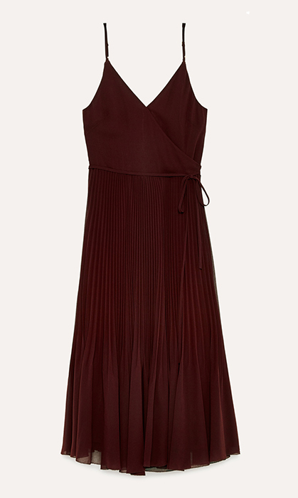 "<strong>Wilfred Beaune Dress, $188, <a href=""https://www.aritzia.com/en/product/beaune-dress/61870.html""><em>aritzia.com</em></a></strong>"