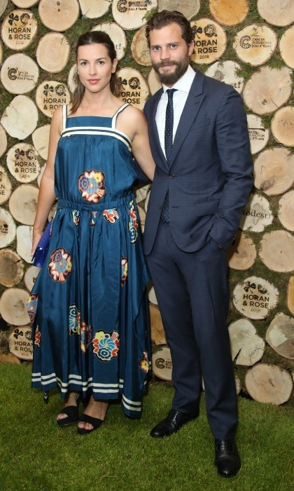 Jamie Dornan and his wife Amelia Warner attended the Horan and Rose Charity event at The Grove on June 23 in Watford, England. The charity outing aimed to raise awareness and funding for Cancer Research UK Kids & Teens.