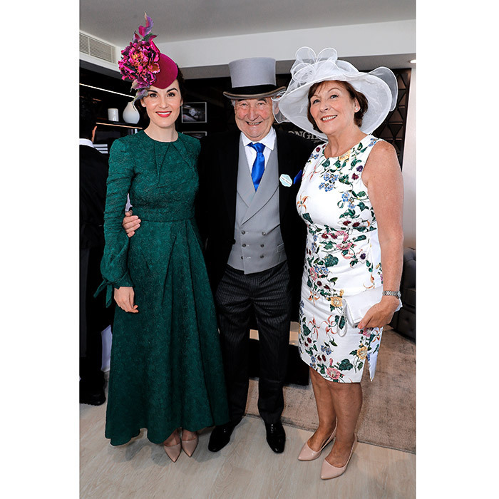 Royal Ascot isn't just for the royals! There were also some famous faces from entertainment at the races. <em>Downton Abbey</em> and Godless star Michelle Dockery brought her parents Michael and Lorraine Dockery. Here the stylish threesome are seen in the Longines suite in the Royal Enclosure on June 22.