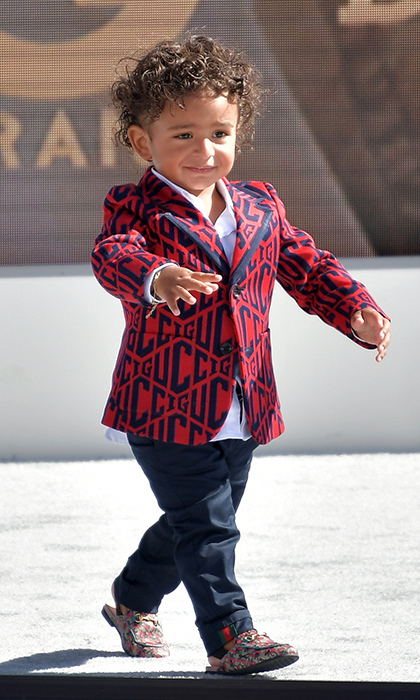 A very special honorary mention goes to DJ Khaled's adorable son Asahd Tuck Khaled, who was dapper in head-to-toe custom Gucci for the Live! Red! Ready! Pre-Show, sponsored by Nissan at Microsoft Theater. 