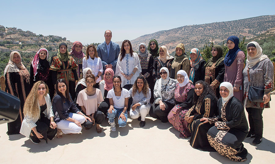William visited the Dar Na'mah Centre on June 25, a charity set up by Princess Taghrid to support women of all ages to develop their own livelihoods.