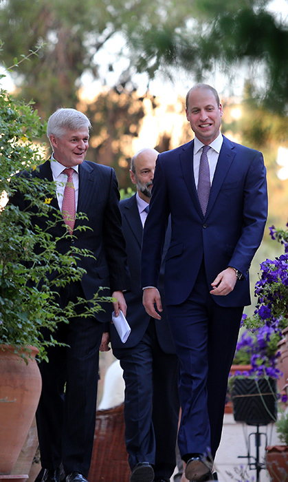The Duke arrived at the party alongside British ambassador Edward Oakden.