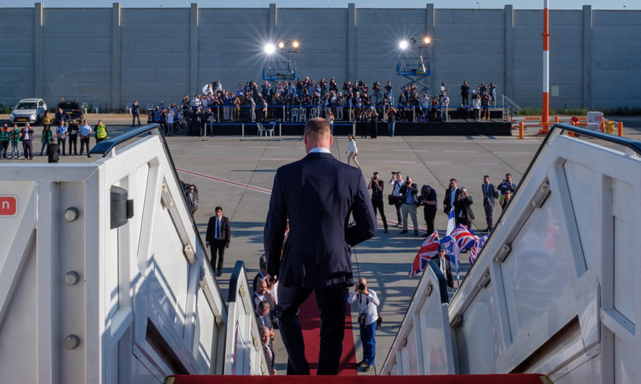 The royal touched down in Tel Aviv, Israel on June 25 and received a warm welcome. During his four days in Israel he will meet with Prime Minister Benjamin Netanyahu, visit the Yad Vashem Holocaust memorial center and take in a soccer game in Jaffa, among other things.
