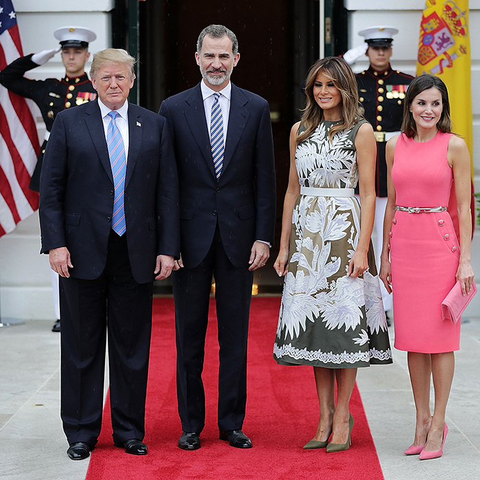US president Donald Trump and his wife, Melania, met with King Felipe and Queen Letizia of Spain on June 19 during the Spanish royals' visit to the United States.
