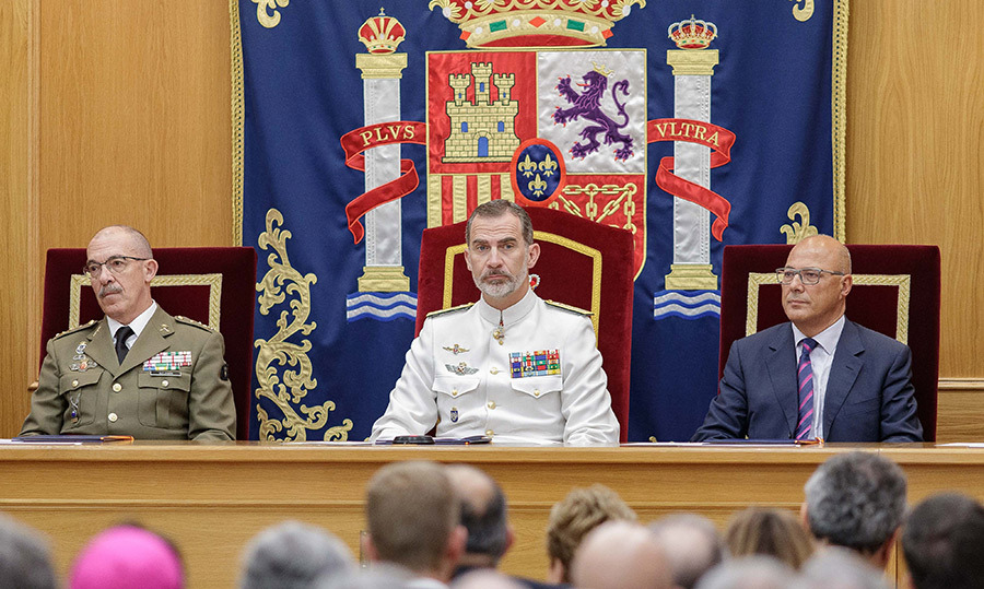 King Felipe attended the closure of the Senior Army course at CESEDEN on June 25 in Madrid.