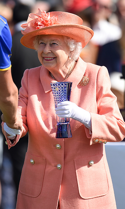 Queen Elizabeth II attended The Royal Windsor Cup polo match at Guards Polo Club on June 24. Her Majesty was tasked with handing out some of the prizes.