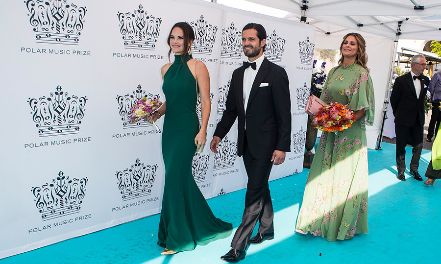 Prince Carl Phillip of Sweden, Princess Sofia and Princess Madeliene attended the 2018 Polar Music Prize award ceremony at the Grand Hotel on June 14.