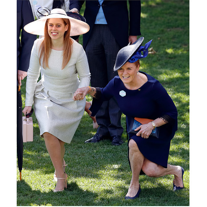 Princess Beatrice and her mom proved to be curtsying queens at Royal Ascot, bending their knees to Her Majesty with big smiles on their faces. 