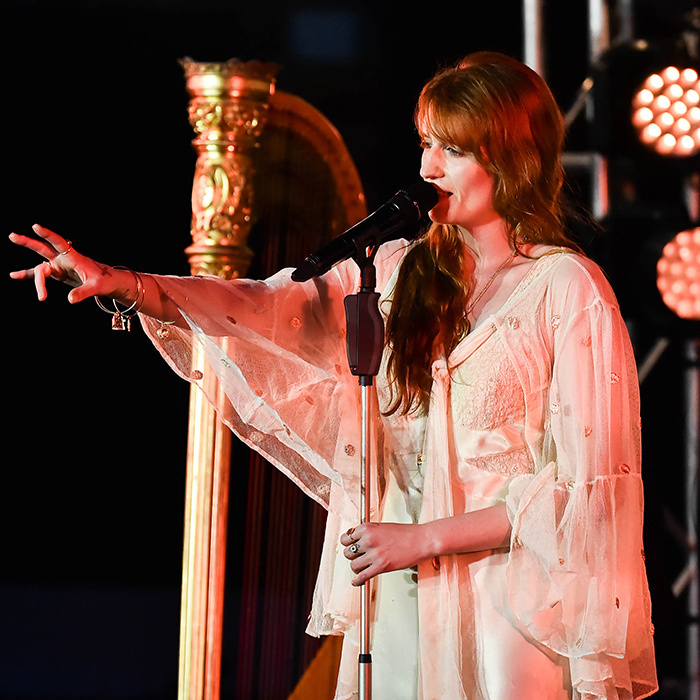 Florence Welch of Florence + The Machine put on an emotional performance during an intimate Spotify Premium event on June 24 in Brooklyn.