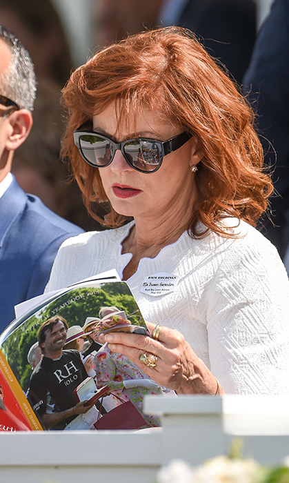 Susan Sarandon made an appearance at the Royal Windsor Cup 2018 polo match at Guards Polo Club on June 24. She later met the Queen!
