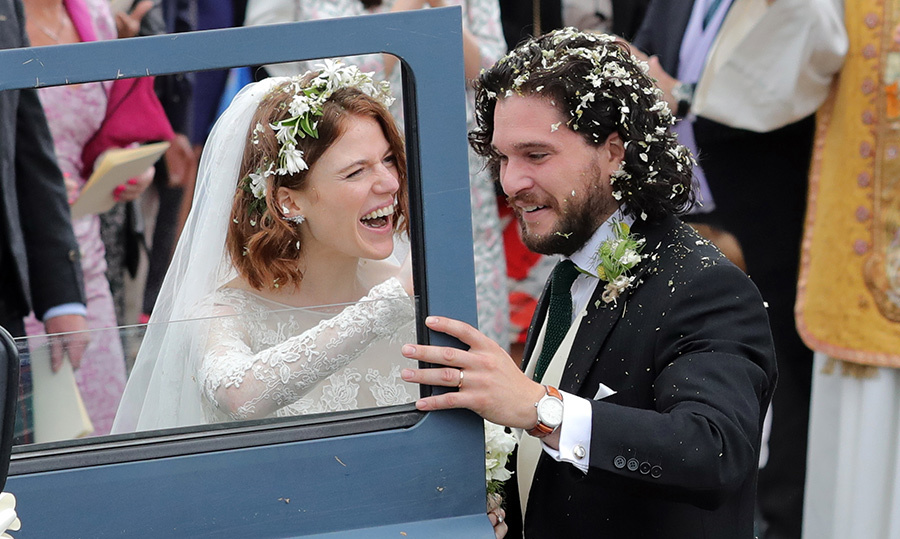 "How cute were newlyweds Kit Harrington and Rose Leslie? The <em>Game of Thrones</em> co-stars said ""I do"" in a beautiful ceremony at Rayne Church in Aberdeen, Scotland on June 23.