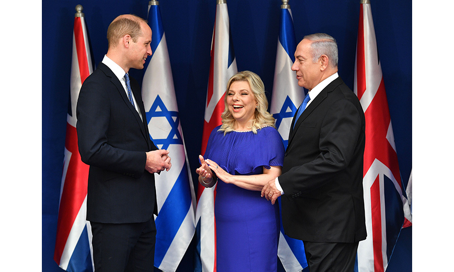 William met with Prime Minister Benjamin Netanyahu and his wife, Sara Ben-Artzi, at Beit Aghion, the official residence of the Prime Minister of Israel.