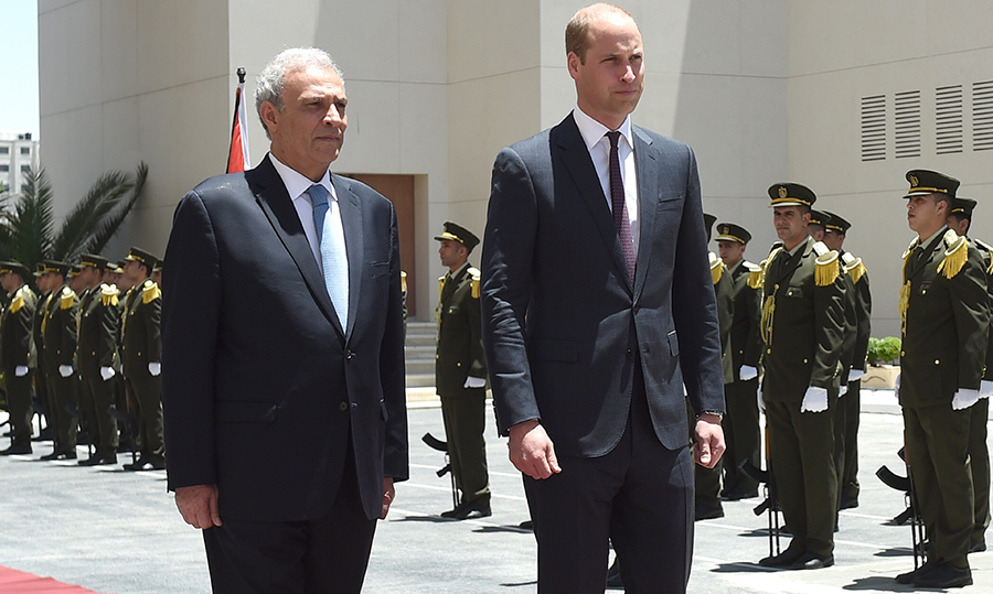 Day four took the Duke of Cambridge to Ramallah, West Bank, where he met with Palestinian Deputy Prime Minister, Ziad Abu-Amr, and Palestinian President, Mahmoud Abbas on June 27.
