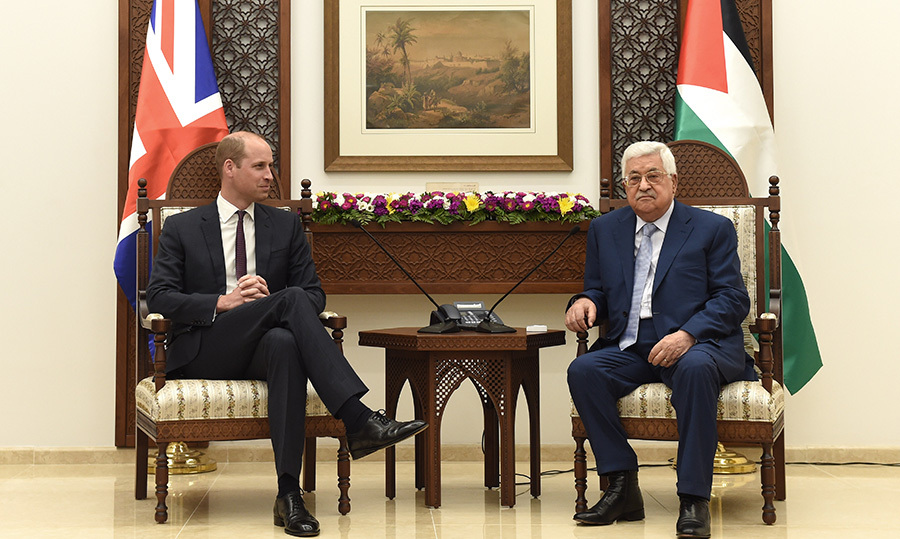 William met with Mahmoud Abbas at the Office of the President.