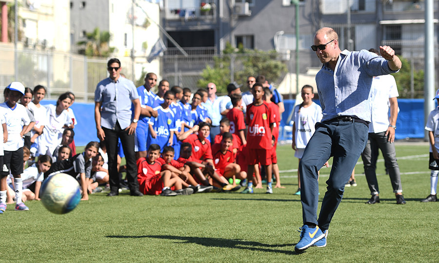 The program aims to build a better society in a diverse part of Israel through education and soccer. And the kids seemed pretty impressed with William's soccer skills!