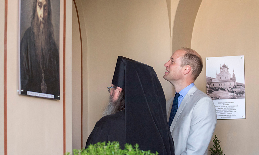 The last day of William's tour, day five, began with an emotional visit to the Church of St Mary Magdalene to pay his respects at the tomb of his great-grandmother, Princess Alice of Battenberg. The princess helped rescue Jewish children during the Holocaust.