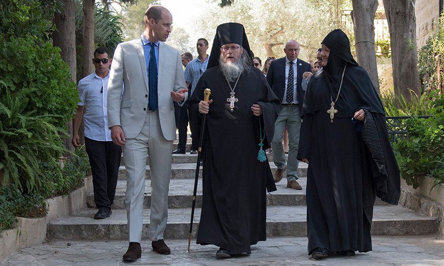 William went on a guided tour of the Russian Orthodox church, lead by Father Archimandrite Roman.