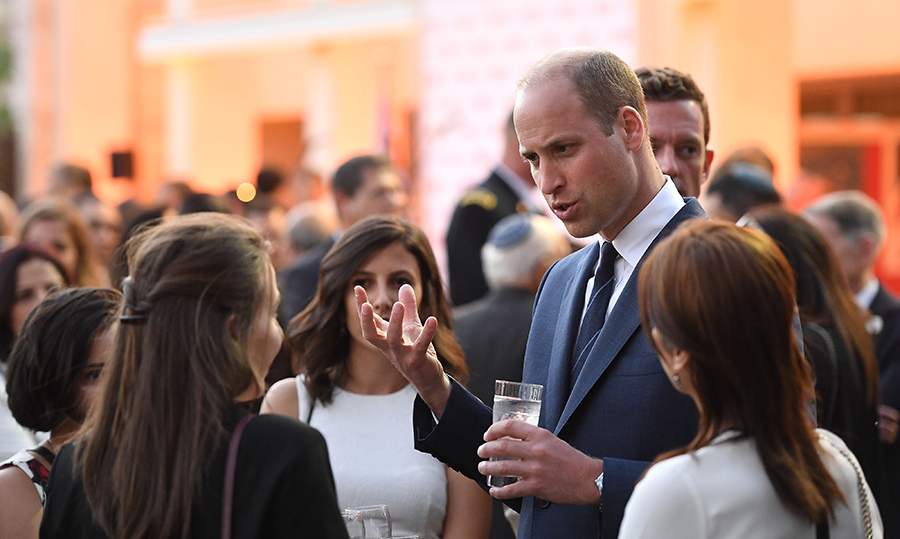 The Duke of Cambridge chatted during a reception in the residence of the British Consul-General.