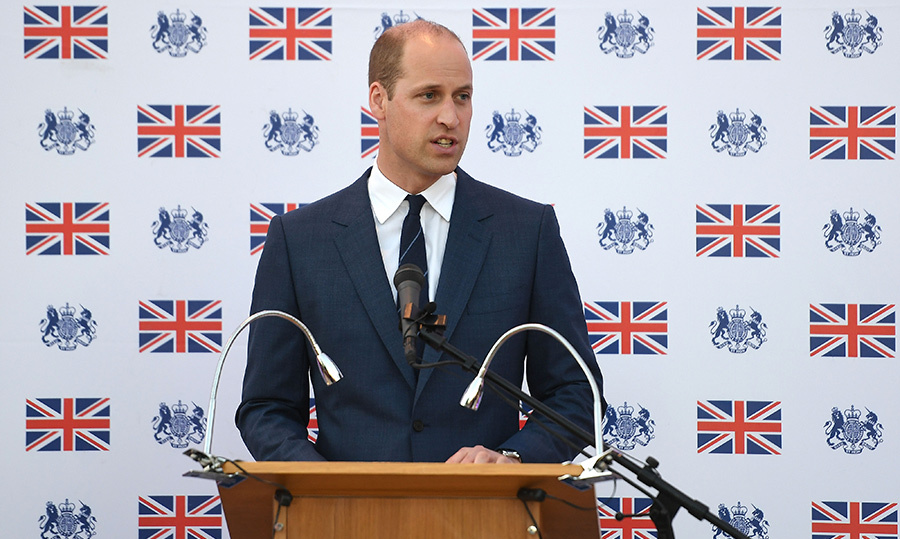 On his last day of the tour, William addressed the crowd at a reception in the residence of the British Consul-General.
