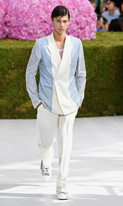 The following day, on June 27, Prince Nikolai hit the runway for Dior Homme in Paris. 