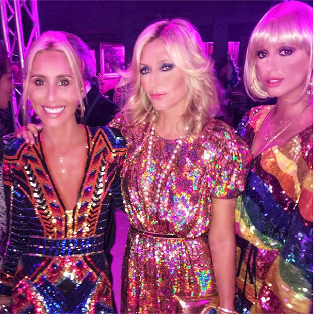 Alexandra von Furstenberg was perfectly in sync with her sister Crown Princess Marie-Chantal and niece Princess Olympia, all of whom chose rainbow sequins for the disco-themed St Tropez bash 