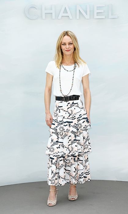 Vanessa Paradis looked summer ready at the Chanel show.