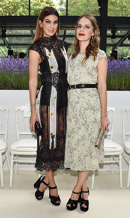 Society gals Bianca Brandolini d''Adda and Eugenie Niarchos stunned at the Giambattista Valli Haute Couture show on July 2.
