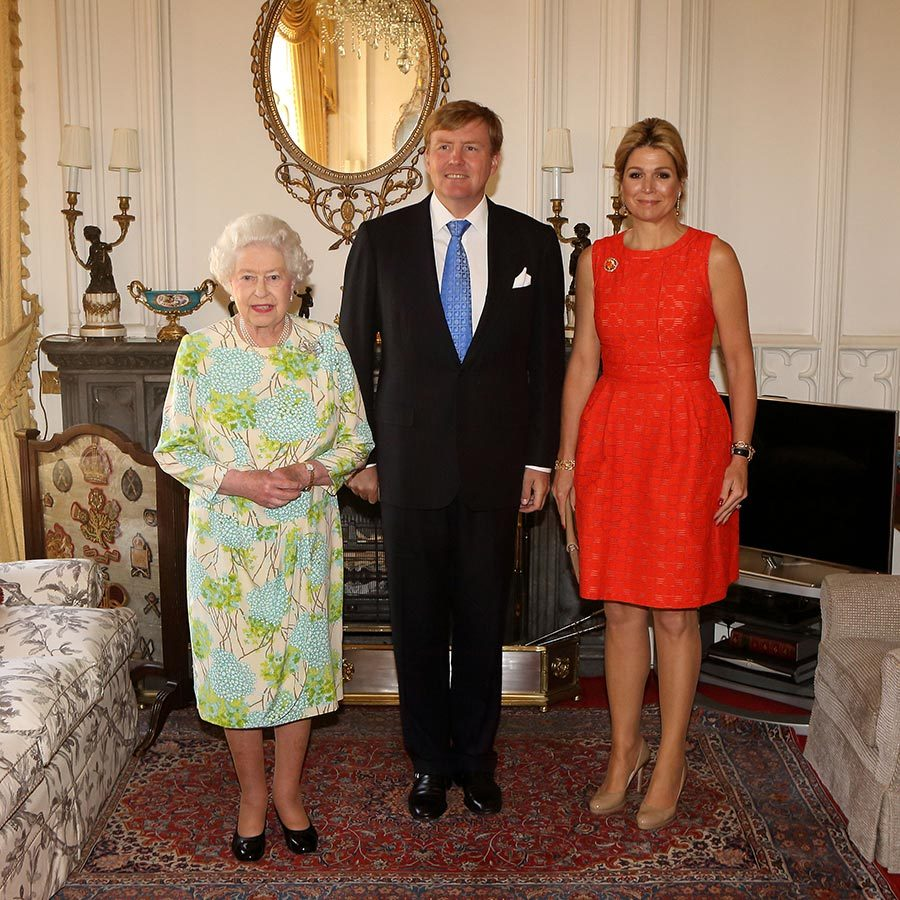 King Willem-Alexander and Queen Maxima visited the Queen at Windsor Castle in 2013.
