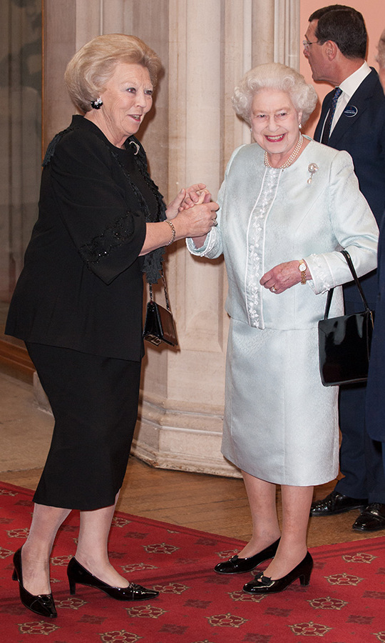 Queen Beatrix made the trip to Windsor Castle in 2012 to attend a lunch for Sovereign Monarchs held in honour of Queen Elizabeth II's Diamond Jubilee. 