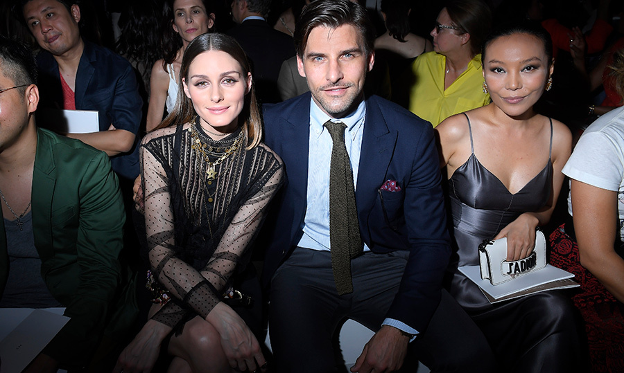 Front row? Yes please! Gorgeous couple Olivia Palermo and Johannes Huebl got the best seat in the house at the Christian Dior show.