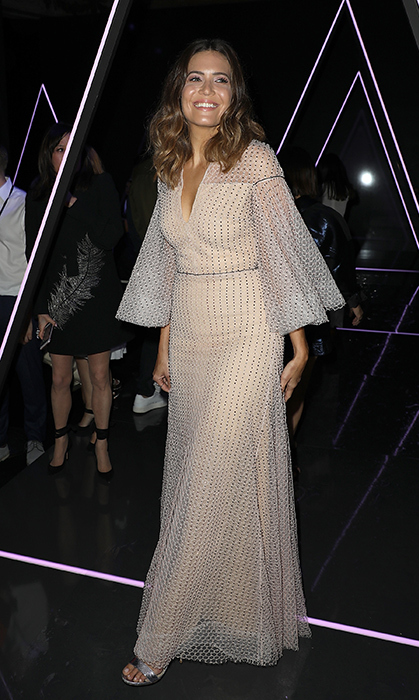 The singer glammed it up for Ralph & Russo later that night.