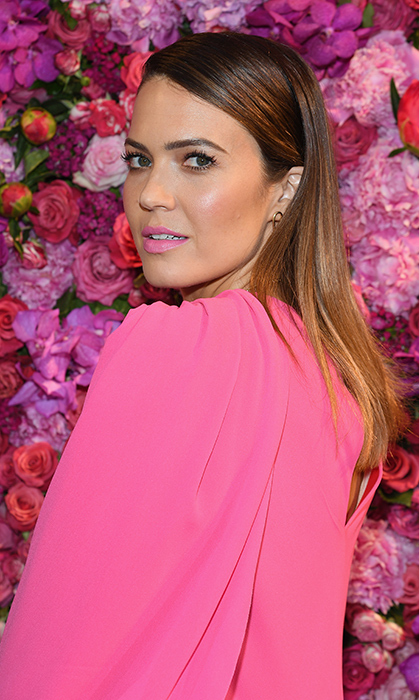 Mandy stunned in a bubblegum pink dress for Schiaparelli on July 2.