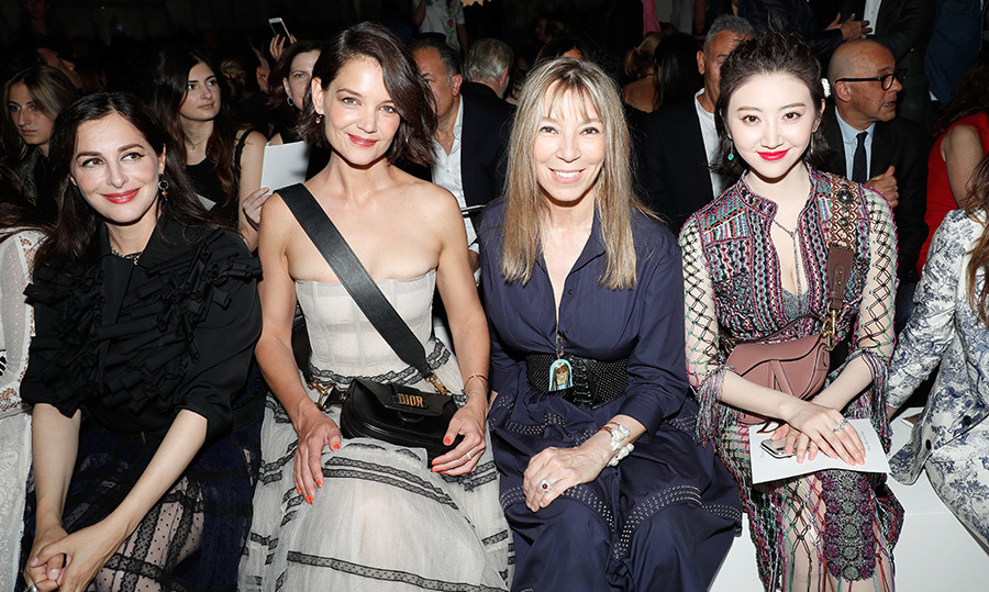 Amira Casar, Katie Holmes, Victoire de Castellane and Tian Jing were front and centre at Christian Dior. 