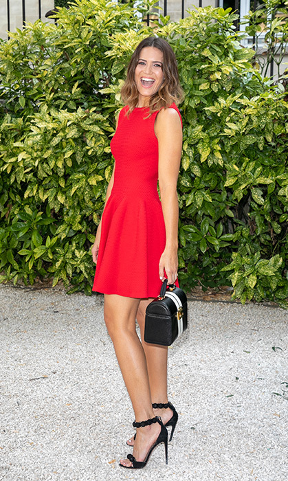 Mandy Moore attended the Atelier Swarovski cocktail party, too, looking red hot in this cute little number.