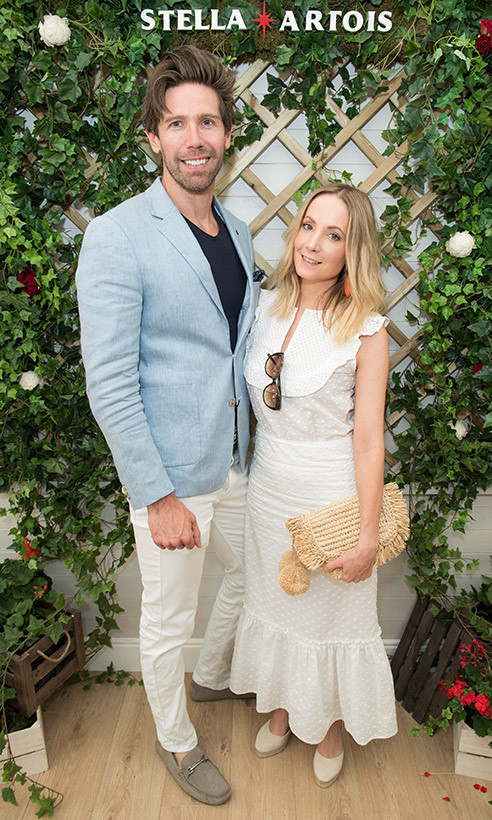 <h2>James Cannon and Joanne Froggat</h2>