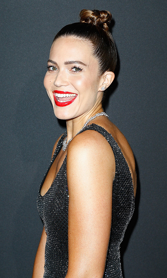 A fixture at this year's shows, <em>This Is Us</em> star Mandy Moore was pure Hollywood glamour at the Vogue Paris party. 